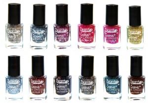 Vernis Pailletés So Glitter ! Douze couleurs métalliques irisées tendance